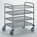 Chariot inox-4 plateaux