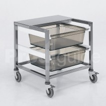 Chariot cuisine inox tranche-pain