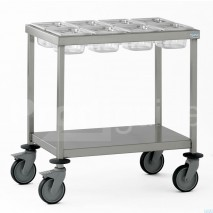 Chariot inox épices bac polycarbonate GN