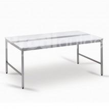 Table découpe polyethylène acec alaise centrale inox