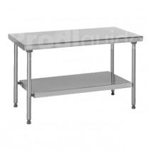 Table centrale inox étagère