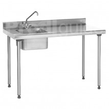 Table du chef inox avec robinet