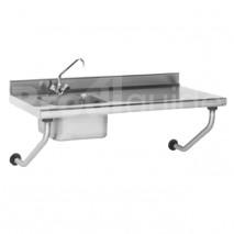 Table du chef suspendue inox avec robinet