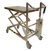 Table élévatrice électrique ergonomique inox