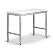Table inox decoupe centrale polyethylene