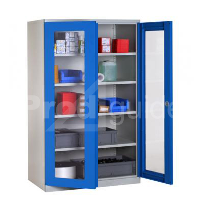 armoire industrielle haute portes transparentes prodiguide. Black Bedroom Furniture Sets. Home Design Ideas