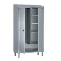 armoire vestiaire inox à portes battantes