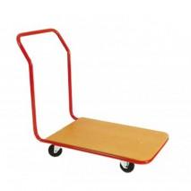 Chariot plateau bois dossier fixe 200kg