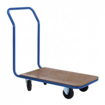 Chariot plateau bois dossier fixe 300 kg