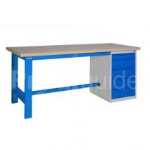 etabli d atelier avec plateau en bois et plancher prodiguide. Black Bedroom Furniture Sets. Home Design Ideas