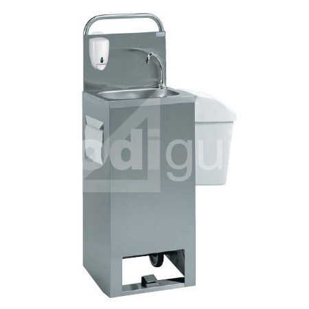 Lave-mains inox mobile